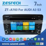 ZESTECH Factory OEM 7'' HD Car radio for Audi A3 S3 with car gps navigation system +car multimedia system