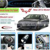 Keyless Entry System Auto Keyless Remote Car Alarm Siren for Mitsubishi Lancer Smart Start Stop Push Button
