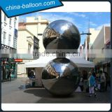 2016 Hot sale inflatable mirror ball,silver reflective disco lights mirror ball,inflatable mirror balloon for events decoration