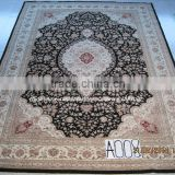 silk & wool carpet Traditional persian turquoise hand made wool carpet design for home/hotel wool rug