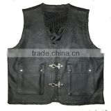 buffalo quality german biker men leather biker vest