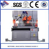 combined punching and shearing machine,punching cutting motching Hydraulic Iron Worker,steel ironworker