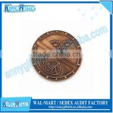 Antique cooper plated custom engraved challenge coin