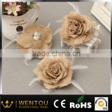 Burlap Linen Wedding Decorative Artificial Flower