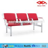 Hot sale aluminum PU cover 3 seater bench seat airport waiting room chairs