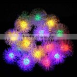 2015 hot Solar powered 4.8m 20LED Chuzzle shaped Fairy String Light