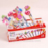 Display Box Packing Different Series Pencil Topper Eraser/cute eraser