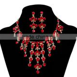 2014 fashion wholesale red gold wedding bridal jewelry sets, jewelery accessories wholesale