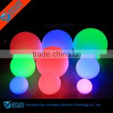 plastic illuminated outdoor led glow ball,waterproof led battery operated christmas light balls