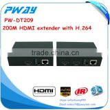 alibaba supplier Pinwei PW-DT209 better than HDbitT Network HDMI Extender 1080P HDMI signal up to 120m with IR looping out