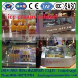 Single circle cake refrigerated showcase / Bakery refrigerated display case / Commercial refrigerator cake showcase