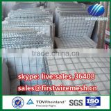Military sand filled barrier Hesco container welded gabion box Hesco defense wall price for sale