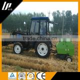2015 new design walking behind tractor, for grass and straw mini round hay baler machine