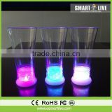 Factory sale Romantic battery powered liquid active led cocktail glass