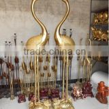 casting bronze crane sculpture 1m high 1.2meters high customized bronze sculpture