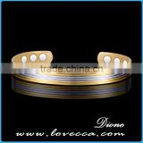 Hot selling in stock Pure arthritis copper bangle magnetic bracelet