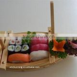 Natural disposable bamboo sushi boats With SGS