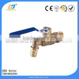 Single brass bathroom faucet for Outdoor / Indoor Usage