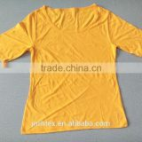 Stock Blank CVC tshirts no lable,lady t shirt for hotsale
