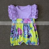 wholesale baby girl ruffle flower rompers infant babysuit children knit cotton clothing