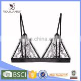 China Factory Elegant White Sexy Lace Bra Transparent Lace Bra