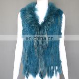 Top quality women weaving fur gilet for winter wholesale