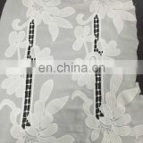 chiffon embroidery milky yarn lace fabric for girl's summer garment