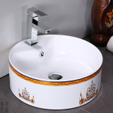 Color art basin ceramic bathroom basin for hotel bathroom
