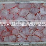 Gemstone Rose Quartz Stone Slabs