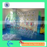 Colorful dots inflatable water roller inflatable roller balls for water in green and blue color for sale