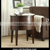NI-134 Antique Round Shape Bedside Night Stand