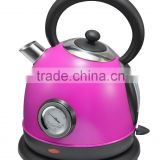 2015 new design colourful Electric kettle with thermometer