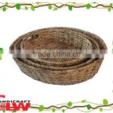 corn leaf tray wicker tray wholesale handmade durable fashion for home or hotel food storage with cut-out handle