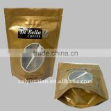 clear plastic pouch bag with zipper/stand up bag with window for food/aluminum foil plastic zipper bag