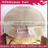 Best seller top grade full thin skin cap human hair lace wigs