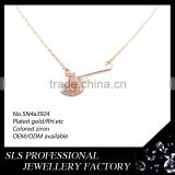 College team charms wholesale 925 sterling silver necklace 2014 fashion necklace rose gold plated women necklace