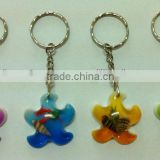 Starfish Decorative Keychain,Colorful Souvenir Gift Keychain real starfish keychain,Unique fashion starfish keyring