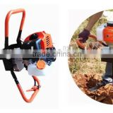 52cc gasoline earth driller machine with 100mm,150mm,200mm bit