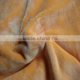 polyester with good spandex tricot one side brush super soft hand wholesale spandex fabric