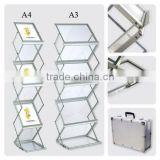 portable acrylic zigzag folding brochure stand