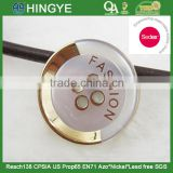 Sedex Audited Factory 2 Pillar Vacuum plating gold color plastic button, vaccum plating polyester button