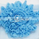 "3"" Glitter Shabby Rose Trim - Blue Color - Glitter Shabby Trim -Blue Glitter Flowers - Glittery Flowers - Hair Accessorie"