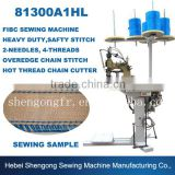 SHENPENG 81300A1HL Two Needle Four Thread Safety Stitch Bulk Bag Sewing Machine With Lower and Upper Feed