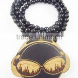 2015 custom fashion wooden beads necklaces made in china