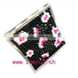 mini bling rhinestone small square craft pocket mirrors