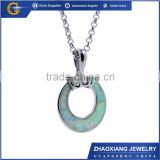 OPC015 direct buy china wholsale stainless steel jewelry fashion necklace christmas gift opal fashion pendant.