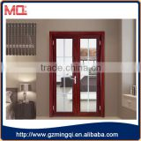 Aluminum tempered glass double swing door grill design                                                                                                         Supplier's Choice
