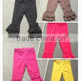 Girls latest fashion cotton pants,Mix color ruffle pants,Kids pants by Comfortable fabricr