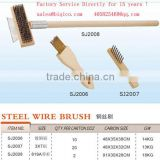 wood handle steel wire brush factory directly good quality cheap price HS code 96034019 96035011