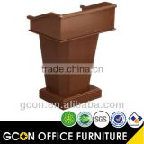 Design podium wood walnut modern style school furniture